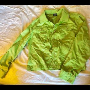 Light Green button down jacket